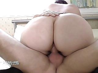 British busty Sarah is greedy for 2 cocks babe bbw tits video