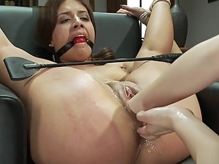 Tied up babe gets dominated hard big tits hd blonde video