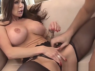 Cougar Kendra Lust facialized by a stud after wild fucking big tits hardcore blowjob video