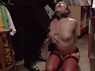 Brunette butt fingered in public shop anal bdsm brunette video