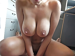 Busty Mother Banged in the Kitchen amateur brunette pov video