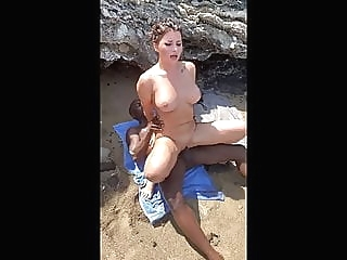 Anna Polina interracial public sex on beach - MySexMobile beach blowjob brunette video