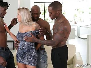Nina Elle Fucks With Three Stallions anal big tits blonde video