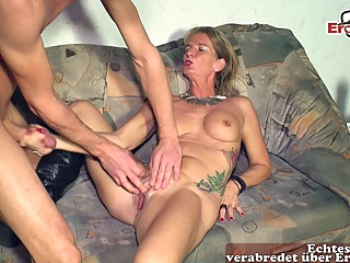 german skinny mature wife seduced younger guy with saggy tits amateur big tits blonde video