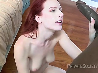 Red haired girl, Alex Crawford is fucking a handsome, black guy she has just met anal hairy hd video