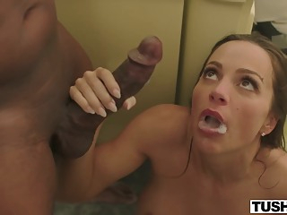 Black guys just wants to stick their hard dicks into a tight ass hole or pussy anal big tits brunette video