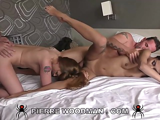 Roxy and Lara Duro are having a threesome with a married neighbor, in his bedroom anal brunette casting video
