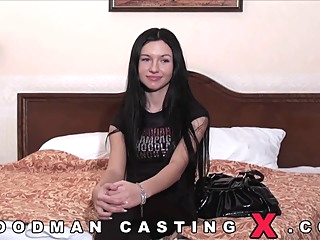 porn casting of Sasha Rose brunette casting hd video