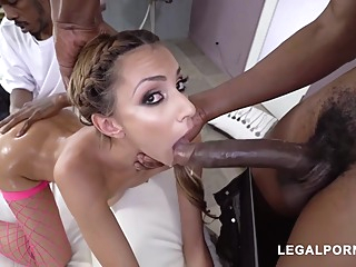 Tiny Hime abused by black bulls anal big cock blonde video