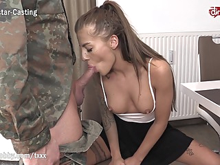 MyDirtyHobby - Got back from his army duty and Silvia Dellai gave him a warm welcome amateur babe blowjob video