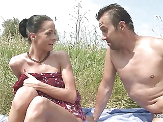 Slim Nudism Teen Seduce to Beach Ass Sex by Stranger Voyeur anal hardcore public nudity video