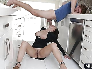 She likes younger men blowjob mature milf video