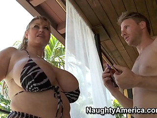 Samantha 38G & Levi Cash in My Friends Hot Mom big tits blonde blowjob video