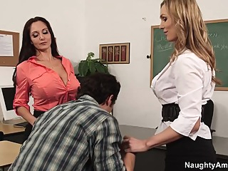 Ava Addams & Tanya Tate & Giovanni Francesco in My First Sex Teacher big butt big tits blonde video