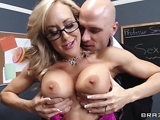 Busty Brandi Love gets nailed by Johnny Sins big tits blowjob pov video