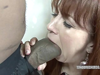 Redhead hottie Trinity Post takes on a huge black cock anal interracial redhead video