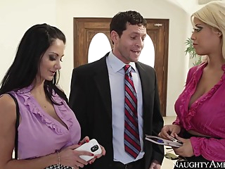 Ava Addams & Bridgette B. & Preston Parker in Naughty Office big butt big tits blonde video