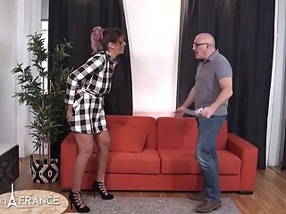 Voluptuous babe is eagerly fucking an elderly man because he is often giving her money big tits anal hd video