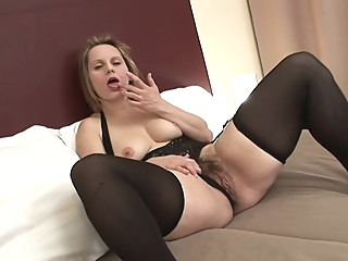 Curvy Magda big tits hd blonde video