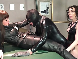 Pegging Latex sub fetish hd latex video