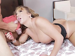 Curvaceous milf, Richelle Ryan is having steamy sex with two handsome guys at the same time big tits hd blonde video